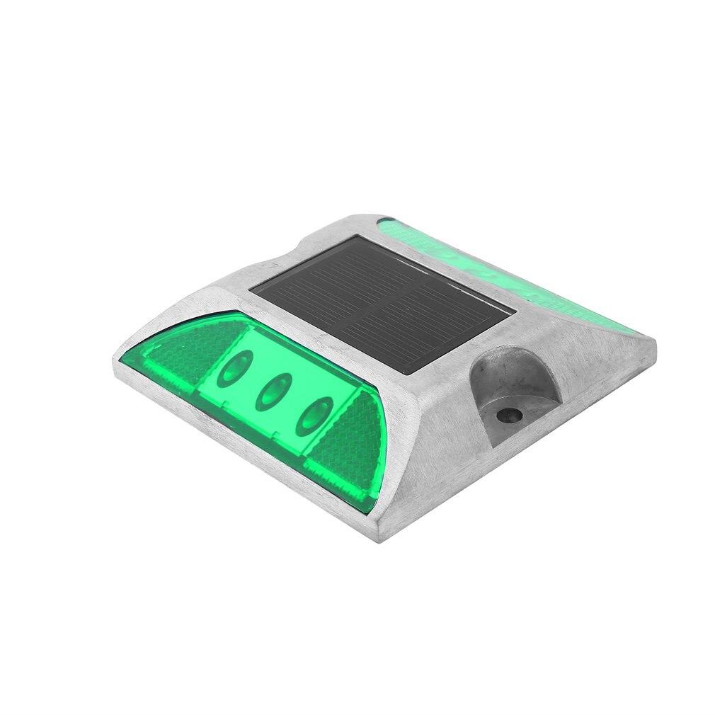 Aluminum Waterproof LED Solar Powered Road Stud Light Reflective Ground Light Path Deck Dock Warning Light Super Bright