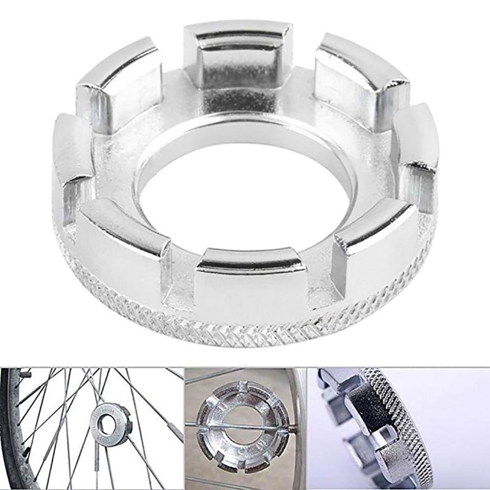 Bike Cycling Wheel Rim Spanner Adjuster Wrench Bicycle Spoke Wrench Tool 8 Way Groove Repair Tool Accessories Spoke Nipple Key