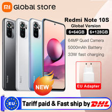 Global Version Xiaomi Redmi Note 10S 6GB 64GB/128GB Smartphone Helio G95 6.43