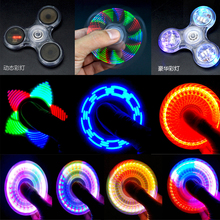 Light Fidget Hand Spinner Led Stress Spinners Glow The Dark Figet Spiner Cube Anti-stress Finger Antistress Toys E