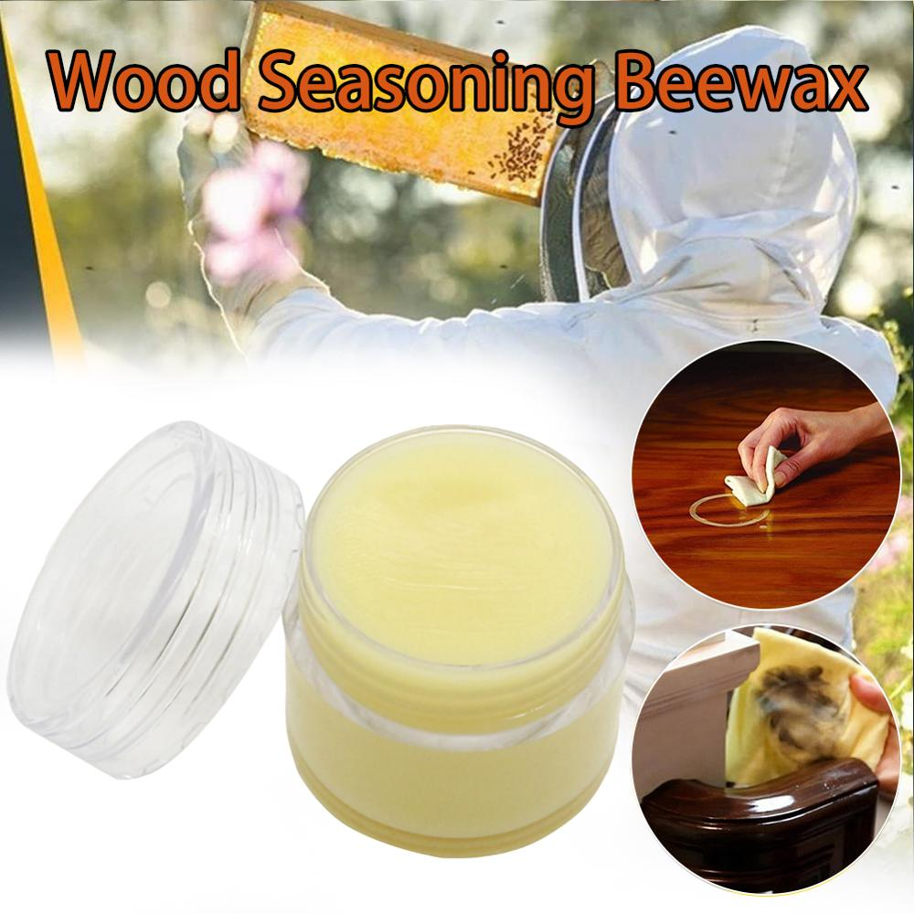 10g/20g Organic Natural Pure Wax Paste Wood Polishing Furniture Floor Surface Finishing Leather Maintenance Household Accessory