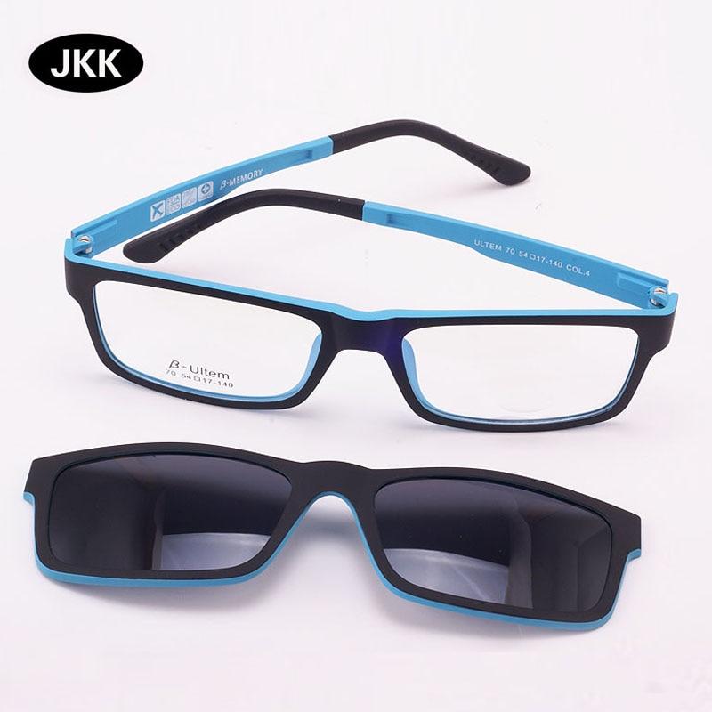 خفيفة للغاية النظارات المغناطيس كليب نظارات قصر النظر الإطار الاستقطاب النظارات الوظيفية نظارات 3d ultem uv 400 نظارات jkk70