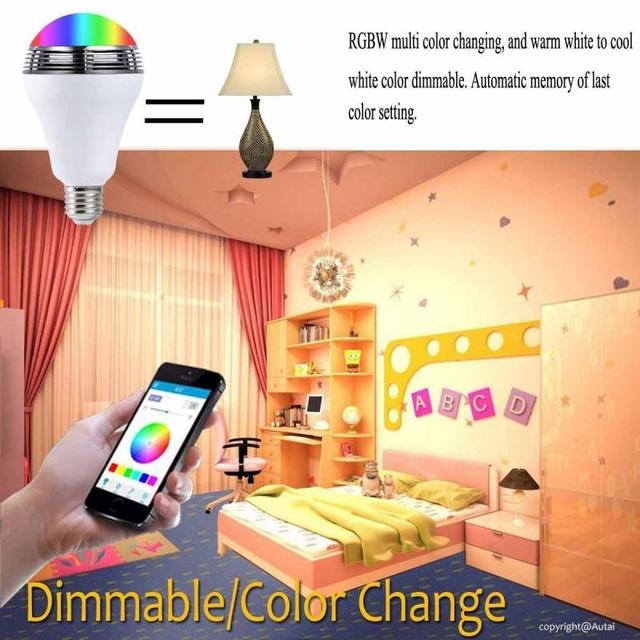 Smart LED Bulb with Wireless Bluetooth Speaker  2