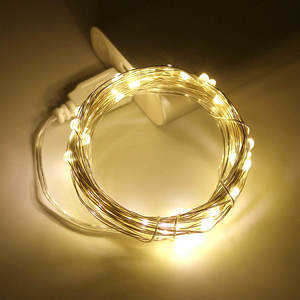 Led-String-Lights Holiday-Decorations Silver-Wire Christmas Usb-Power 10M New 5M 2M 3M