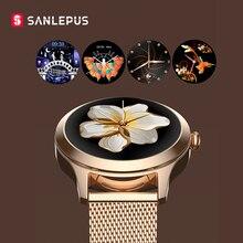 2021 SANLEPUS stylowe damskie inteligentny zegarek luksusowy zegarek wodoodporny ze stali nierdzewnej Casual dziewczyny Smartwatch dla androida iOS