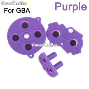 Image 3 - 8colors 1set D pad For GBA Colorful Rubber Conductive Buttons A B D pad for GameBoy Advance Silicone Start Select Keypad Dpad
