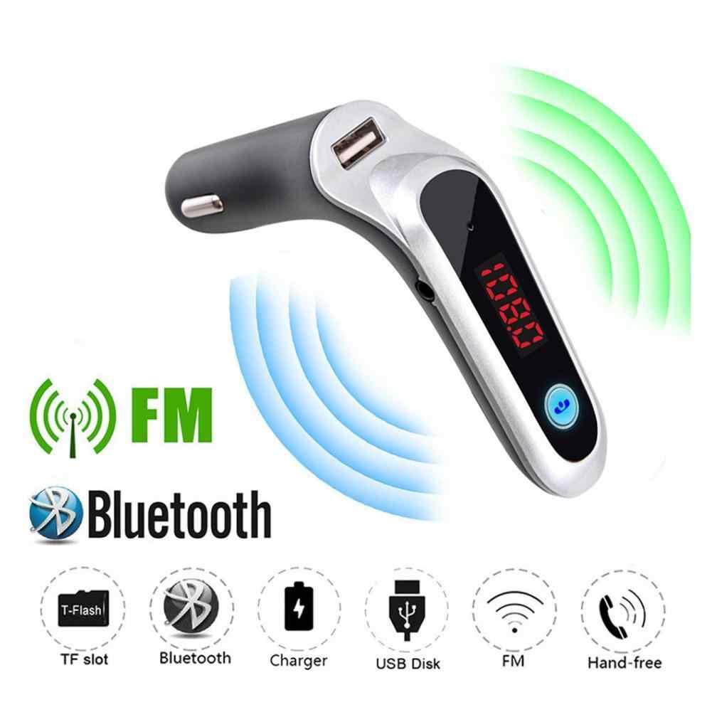 USB TF カードサポート充電器ワイヤレス Bluetooth カーキット液晶ハンズフリー Fm トランスミッター MP3 音楽プレーヤー携帯電話錠 Dsp