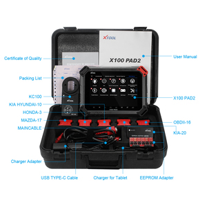 Image 5 - XTOOL X100 PAD2 Pro key programmer OBD2 Auto scanner diagnostic Tool with For VW 4th 5th Immobilizer Odometer adjustment update