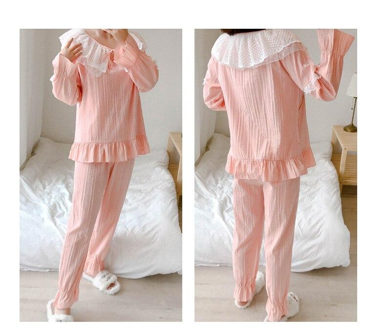Хлопковые газовые ночные рубашки для кормящих и беременных с длинными рукавами для грудного вскармливания, комплект для сна для беременных женщин, Пижамный костюм