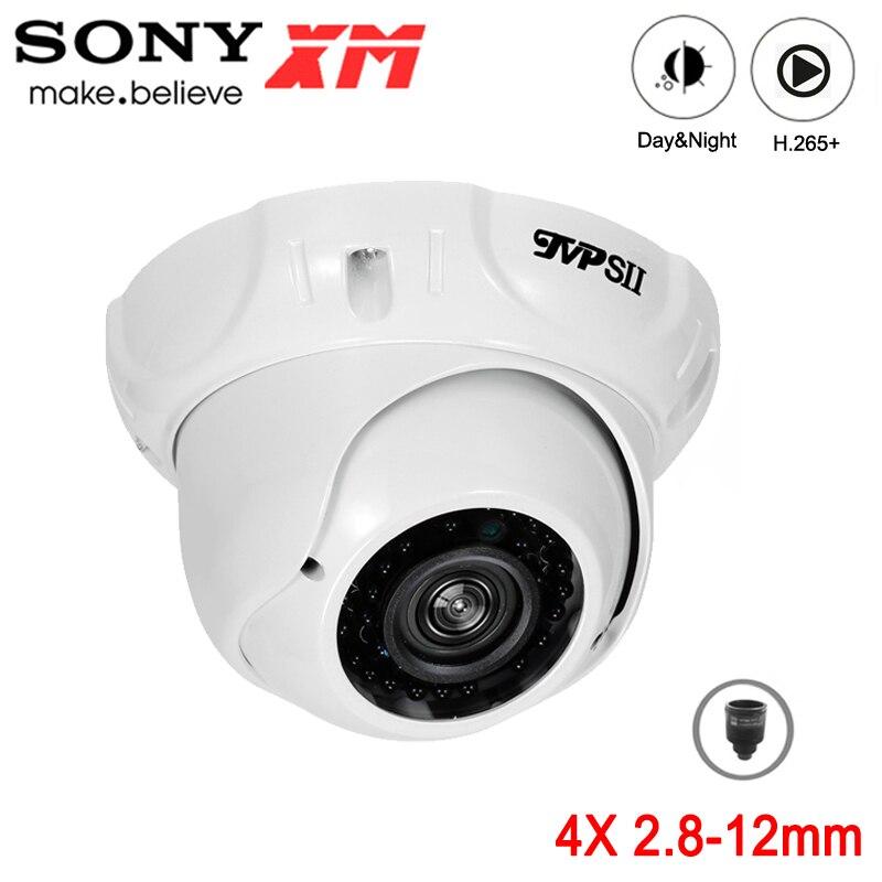 5mp,4mp,3mp,2mp metal 36 pces infravermelho led 2.8mm-12mm zoom impermeável ip66 h.265 + onvif hemisfério áudio rosto detectar câmera ip poe