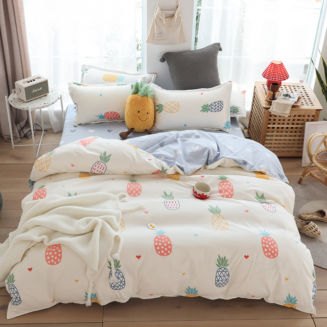 Simple Bedding Set Colorful Pineapple 14