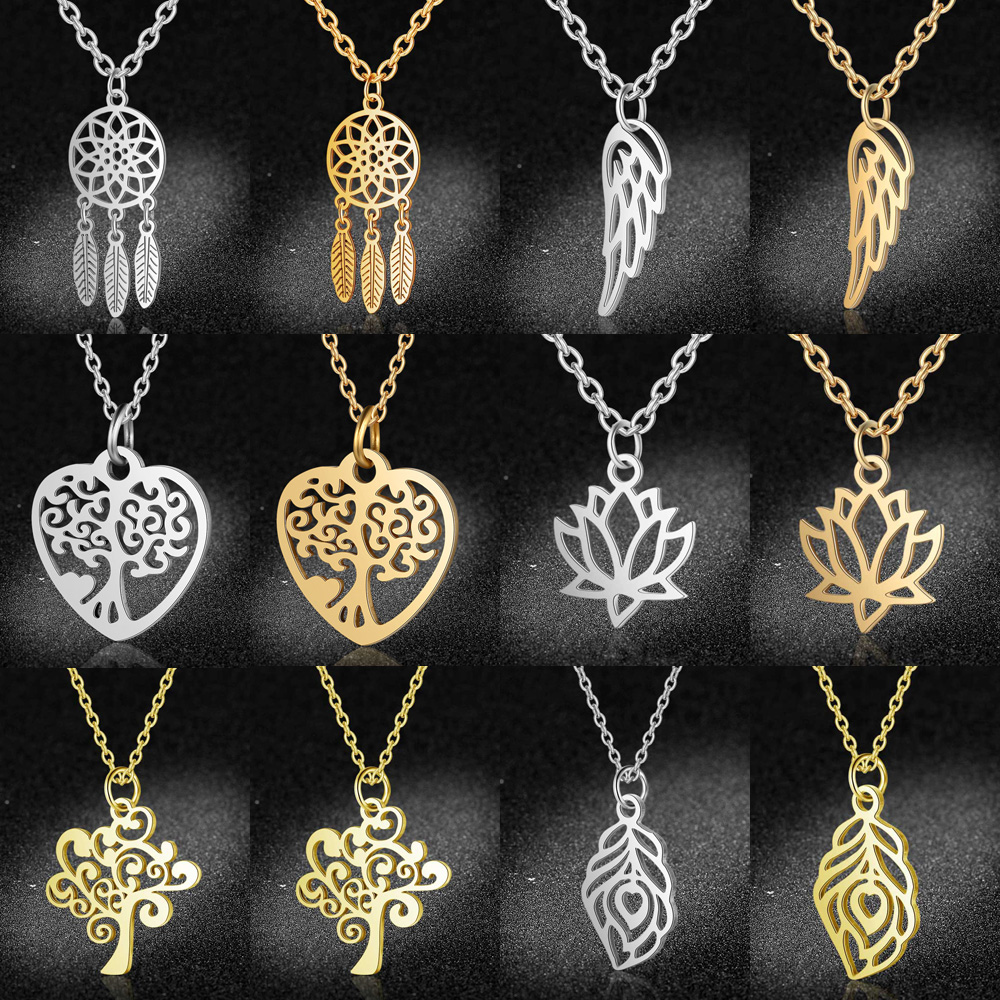 100Pcs Wholesale Unique Jewelry Findings Hollow Om Yoga Cut Charm Pendants