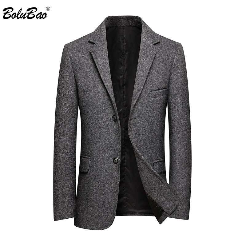 BOLUBAO Men Business Casual Blazer Quality Brand Men's Wool Suit Luxurious Solid Color Blazers Male Clothing