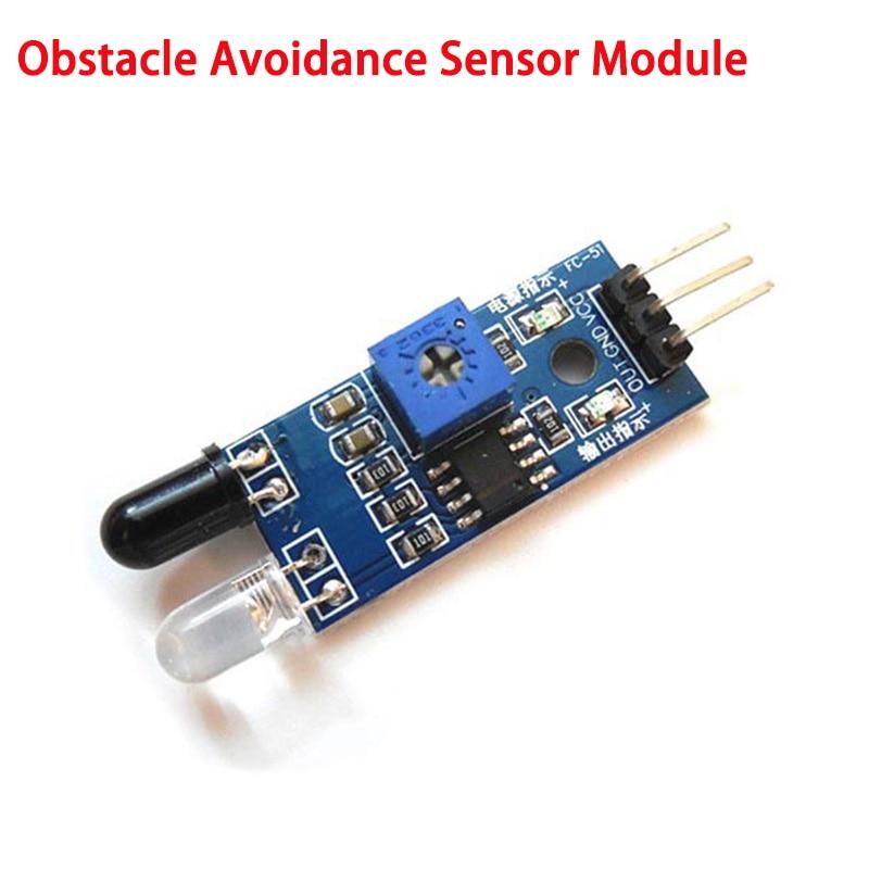 Eletrônica inteligente 1pc ir infravermelho desvio de obstáculos módulo sensor para arduino diy inteligente carro robô automação módulos