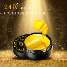 60pcs Collagen Hydrogel Eye Mask Gold Patches Under Eye Gel Face Skin Care Sheet Mask Pads Ageless Dark Circles Bag for Eye