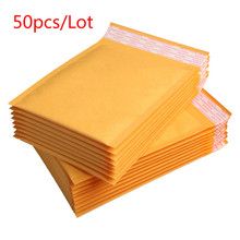 3 sizes 50/30/10/5 pcs Kraft Paper Bubble Envelopes Bags Padded Mailers Shipping Envelope With Bubble Mailing Bag пакет для почтовых отправлений 100 x 5 9x7 150x180mm kraft bubble mailers 009