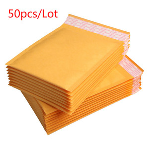 3 sizes 50/30/10/5 pcs Kraft Paper Bubble Envelopes Bags Padded Mailers Shipping Envelope With Bubble Mailing Bag