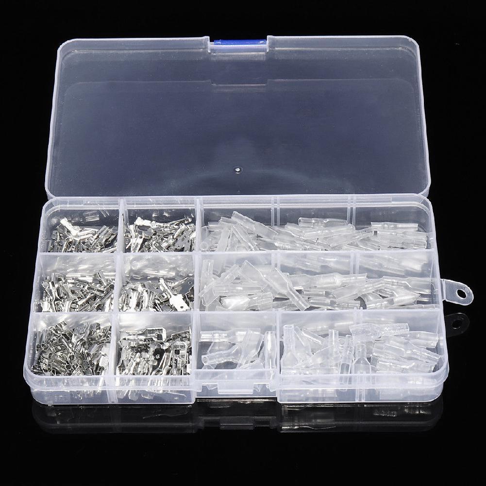 270 обжимные клеммы, изолированный уплотнитель, соединители для электрических проводов, обжимные клеммы, набор в ассортименте