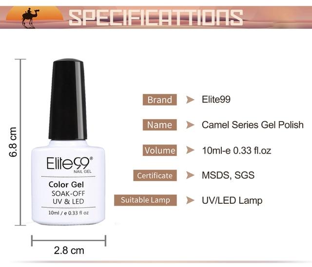Elite99 Gel Nagellack Hybrid Lacke Semi Permanent Nagellack Vernis UV Farbe Alle Für Gepflegten Gel Lak Top Basis primer