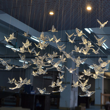 12 PC High Quality European Crystal Acrylic Bird Hummingbird Ceiling Antenna Home Wedding Stage Decoration Ornaments