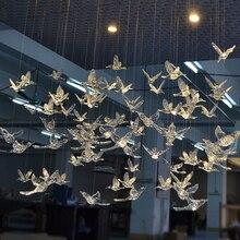 12 قطعة عالية الجودة الأوروبية كريستال الاكريليك الطيور الطنان السقف هوائي المنزل تزيين مسرح الزفاف الحلي
