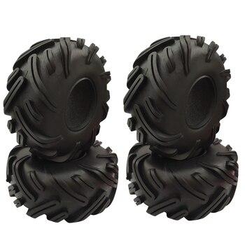 4PCS 2.2 inch Rubber Tyre 2.2 Wheel Tires 140X56MM for 1/10 RC Crawler Traxxas TRX4 Axial SCX10 90046 Wraith yfan 4pcs d1rc 1 8 super grip rc crawler 3 2 inch rc thick wheel tires with sponge for 1 8 rc crawler and 1 10 axial km2 wraith
