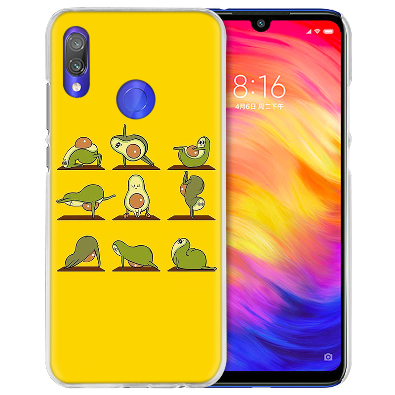 Image 5 - Case Cover for Xiaomi Redmi Note 7 7A 7S 6 6A 5 Y3 K20 Mi 8 9T CC9 CC9E A1 A2 A3 Play F1 Lite Pro Plus avocado yoga-in Half-wrapped Cases from Cellphones & Telecommunications