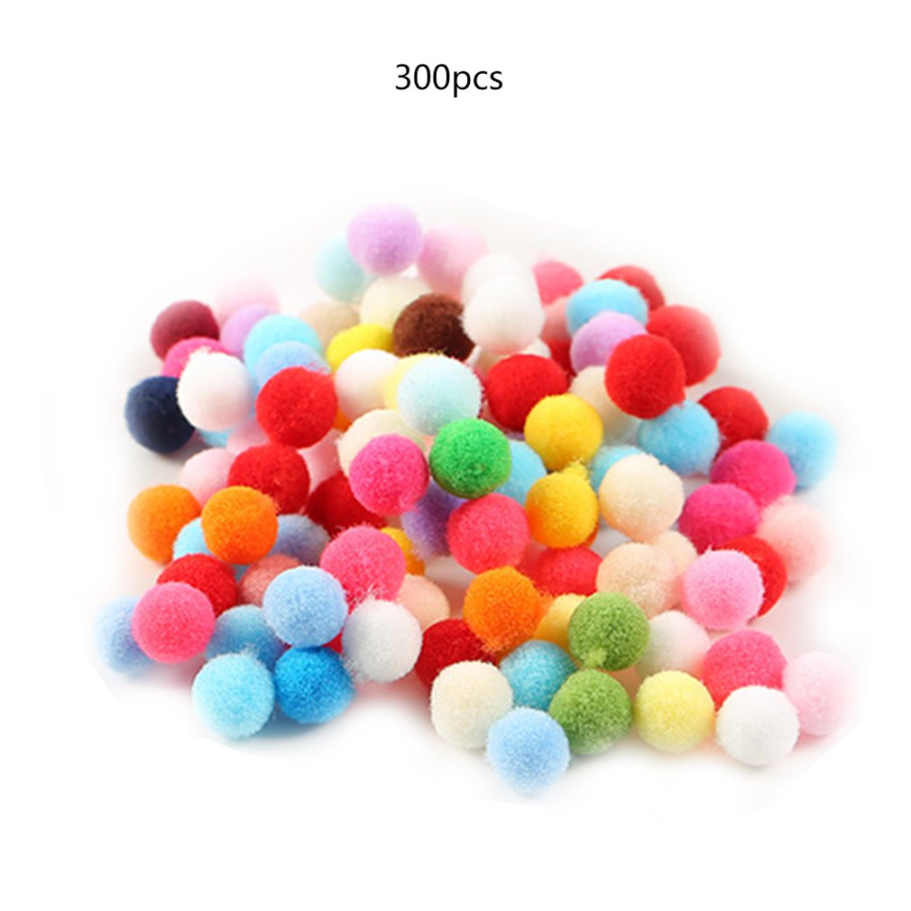 Polyester Color Plush Ball Mini Small Diy Creative Handmade Jewelry Hat Scarf Accessories Colorful Pompoms Craft Sewing