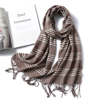 Fashion 2021 winter scarf for women cashmere shawls and wraps lady pashmina neck warm soft long size image