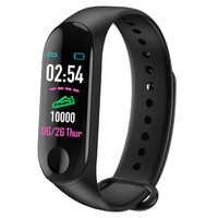 M3 Smart Band Waterproof Pedometer Fitness Tracker Blood Pressure Heart Rate Monitor Smart Bracelet Men Women Sport Smart Watch