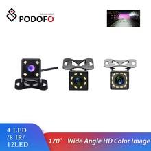 Podofo Car Rear View 4/12 LED 8IR Night Vision Reversing  Parking Monitor Waterproof 170 Degree Video Backup Camera For Universa