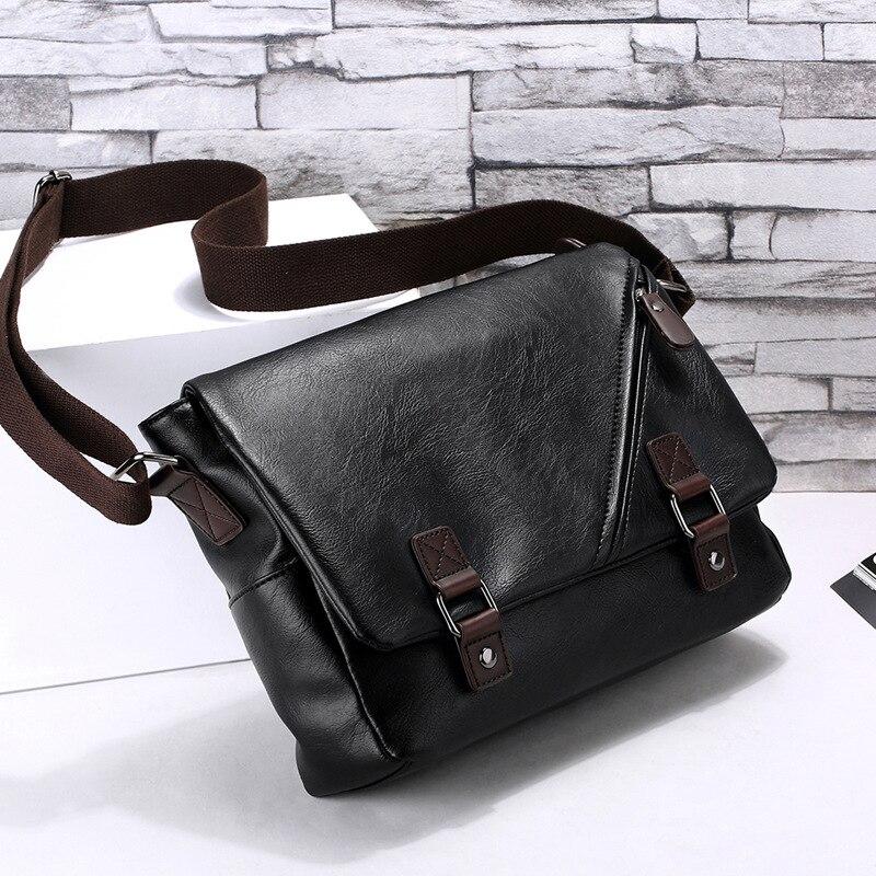 Fashion Pu Leather Men Bag Messenger Bags Laptop Ipad Business Shoulder Casual Crossbody Bags for Men Quality Vintage Satchel