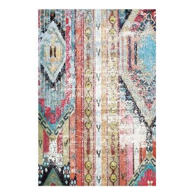 Livraison gratuite tapis de bain Rectangle bleu européen/tapis de maison délicat/tapis de sol de chambre à coucher quatre tailles absorbant paillasson antidérapant