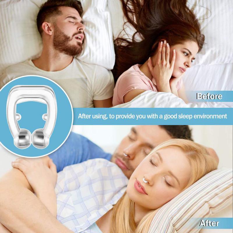Mini Nasal Stopper Clipple Silicone Magnetic Anti Snore Stop Snoring Nose Clip Sleep Sleeping Nasal Clip Toiletry Kits TSLM1