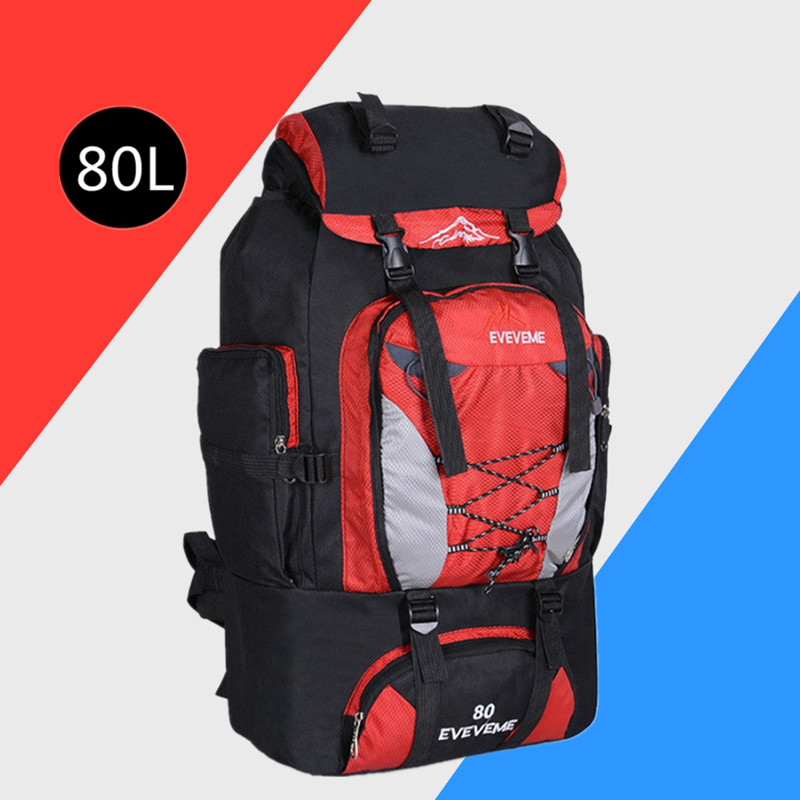 Men's 80L Large Waterproof Climbing Hiking Backpack Camping Mountaineering Backpack Sport Outdoor Rucksack Bag Climbing Bags     - title=