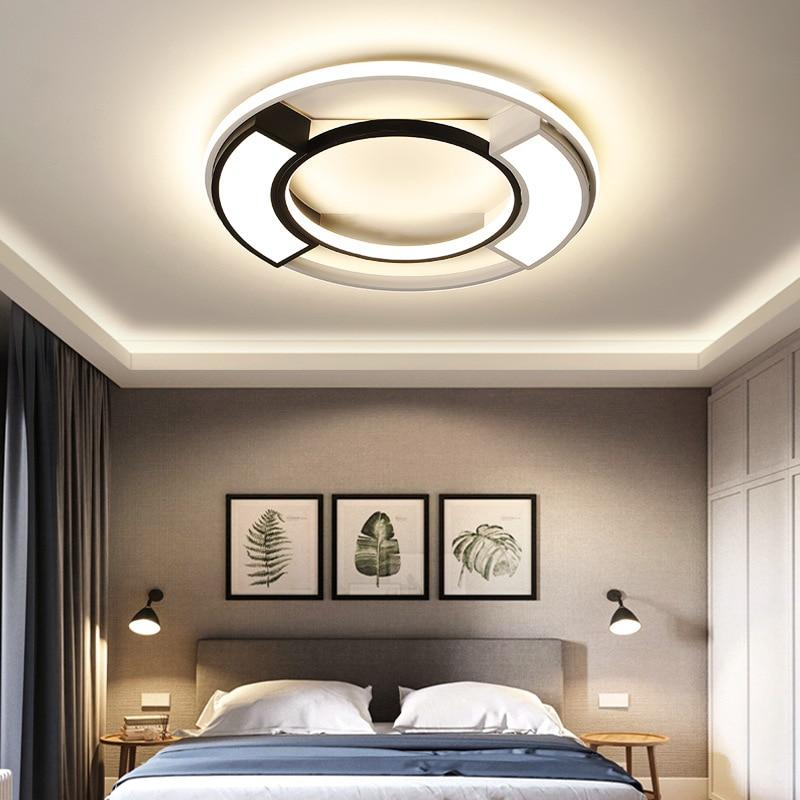 Modern Minimalist Macaron Ultra-Thin LED Ceiling Lamp Northern European-Style Bedroom Round Lamp Living Room Hallway Creative La