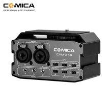 CoMica CVM AX3 XLR ses mikser adaptörü preamplifikatör çift XLR/6.35mm/3.5mm mikrofon ses mikser Canon nikon Sony DSLR kamera