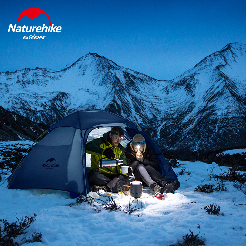 Naturehike фабрика облако пик 2 шестиугольная Сверхлегкая палатка 2 человек Открытый Кемпинг Туризм 4 сезона двухслойная ветрозащитная палатка - 4