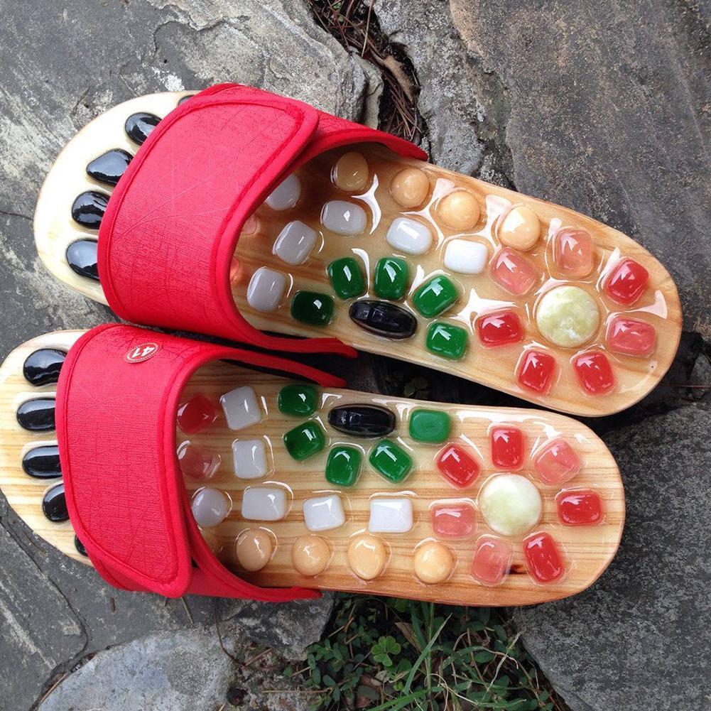 1 шт.; обувь с натуральным камнем для здоровья; Летние босоножки; Массажер для здоровья; обувь с галькой; тапочки; Массажер для акупунктуры; J6W4