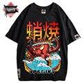 Hip Hop T Shirt Streetwear Übergroßen Lustige Octopus Männer Harajuku T-Shirt Japanischen Stil Sommer Tops Tees Baumwolle anime T-shirt