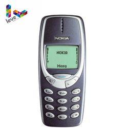 Nokia 3310 GSM 900/1800 Suporte Teclado Russo & Árabe Multi-Idioma Frete Grátis Original Desbloqueado Refurbished Celular