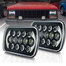 Car 105W 5x7 7x6 LED Headlight For Toyota 95 97 Tacoma 88 95 Pickup H4 DRL Headlamp For Jeep Cherokee XJ 1984   2001