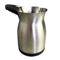 200 ml máquina de café elétrica em aço inoxidável turquia potes cafeteira cafeteira moka pote chaleira chá turco|Chaleiras elétricas|Eletrodomésticos -