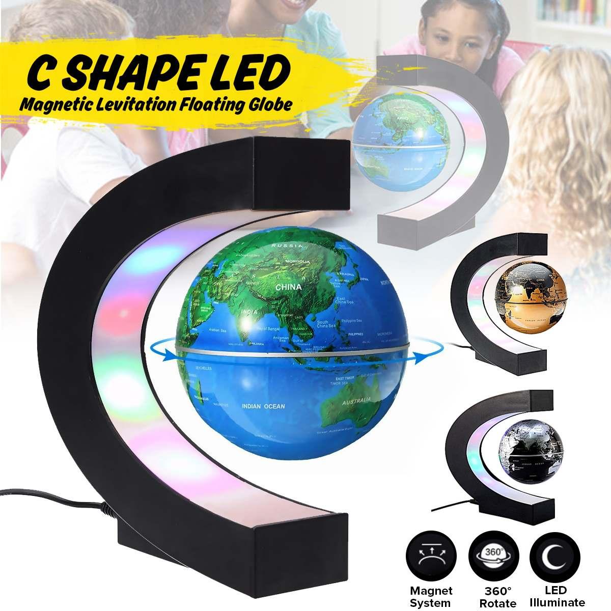 Globo de levitación magnética led luz nocturna flotante mapa del mundo lámpara de bola iluminación fresca Oficina decoración del hogar lámpara de globo terrestre