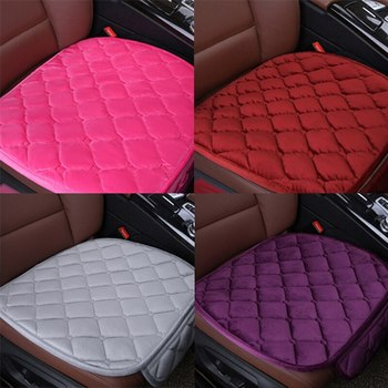 52cm x 49cm Universal Car Front Seat Cover Plush Velvet Soft Winter Seat Protector Seat Mat Cushion Car Accessorie image