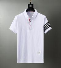 Polo de marque en coton à manches courtes pour hommes, hauts d'été, vêtements de luxe de haute qualité, à la mode, 2021