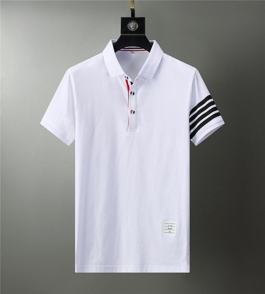 2021 marque Polo Chemises Vêtements Pour Hommes Dété Hauts Grande Taille Manches Courtes Homme Décontracté Coton Luxe Haute Qualité Vêtements De Mode