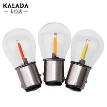 цена на 2pcs 1156-P21W-BA15S Car Led Bulb 1157 P21/5W BAY15D No Error Auto Turn Signal Lamp White Amber Red Vehicle Reversing Lights 12V