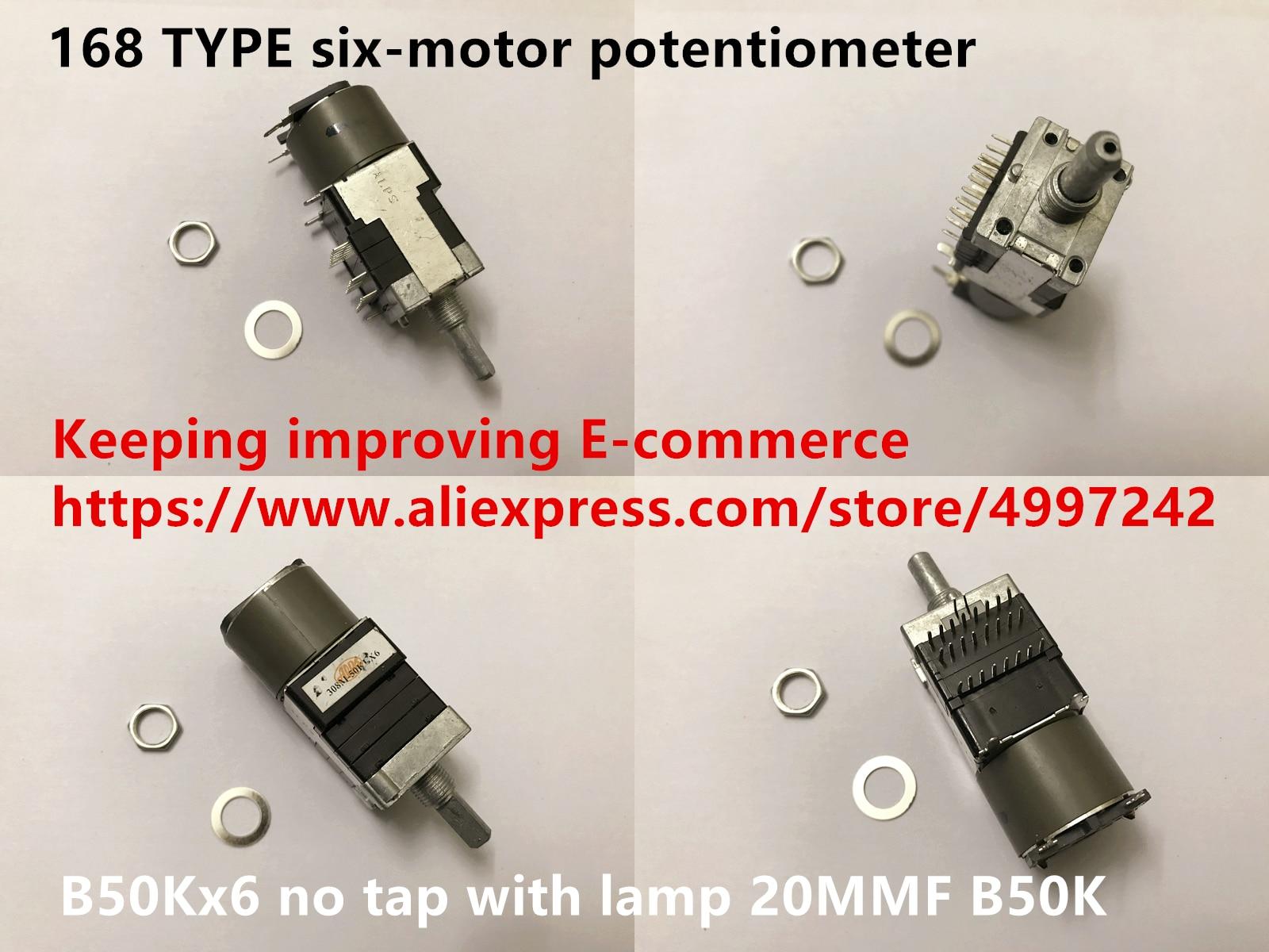 Original nouveau 100% japon importation 168 TYPE six-moteur potentiomètre B50Kx6 pas de robinet avec lampe 20MMF B50K (interrupteur)