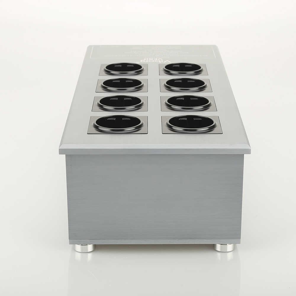 Viborg VE80 HIFI Power Filter Tanaman Schuko Socket 8 Cara AC Power Conditioner Audiophile Power Pembersih dengan Uni Eropa Outlet